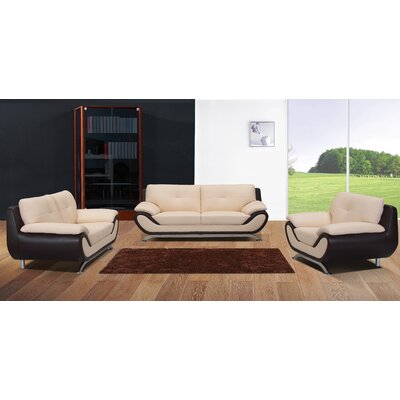 BestMasterFurniture YK09 Seashell/Black Sofa and Chair Sofa and Chair Set