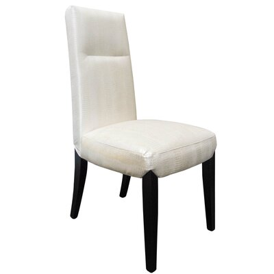Side Chair Upholstery: Pearl / Gold