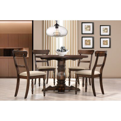 Selena 5 Piece Dining Set Finish: Burnish Oak