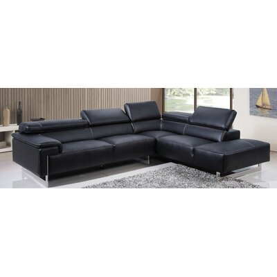 BestMasterFurniture 9187 Black Sectional