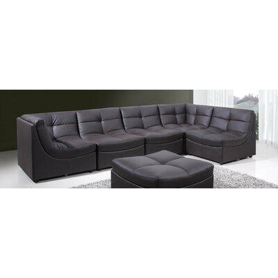 BestMasterFurniture 9148 Brown 6 Pcs Set Modular Sectional Upholstery