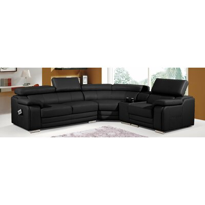 BestMasterFurniture 6256 Black Sectional Upholstery