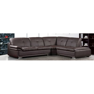 BestMasterFurniture 695 Brown 3 Pcs Sectional Sectional Upholstery