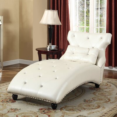Chaise Lounge Finish: Pearl Cream