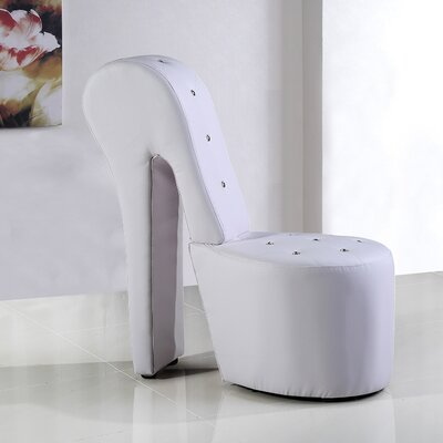 High Heel Lounge Chair Upholstery: White