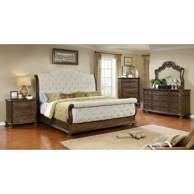 Belle Sleigh 5 Piece Bedroom Set Size: California King
