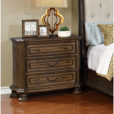 Belle 3 Drawer Nightstand