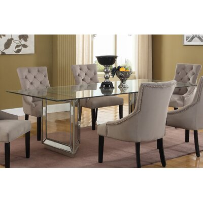 Nicolette Dining Table Size: 30 H x 44 W x 72 L