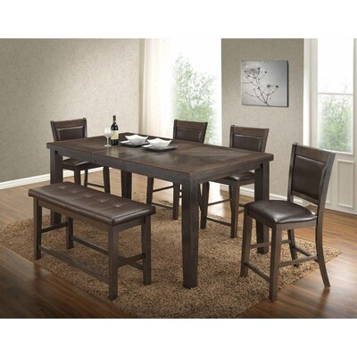 Walnut 6 Piece Counter Height Dining Set