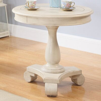 Round End Table Finish: Antique Beige