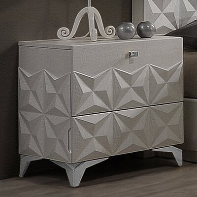 India 2 Drawer Nightstand