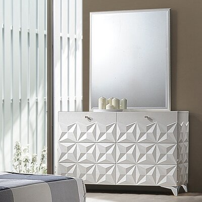 India 6 Drawer Dresser with Mirror