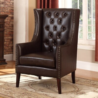 Executive Wingback Chair Upholstery: Brown