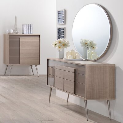 Brazil 6 Drawer Dresser with Mirror