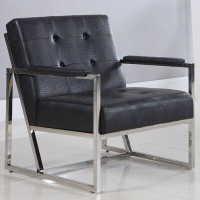 Living Room Arm Chair Upholstery: Black