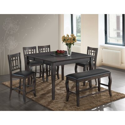 Betty 6 Piece Dining Set Finish: Gray
