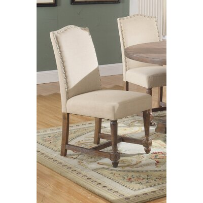 Side Chair Upholstery: Tan