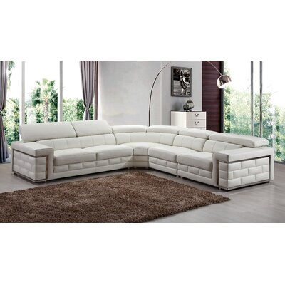 Leather Sectional Upholstery: Ivory