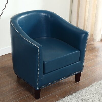 Barrel Chair Upholstery: Blue