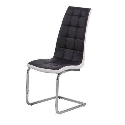 Maddox Side Chair Upholstery: Black