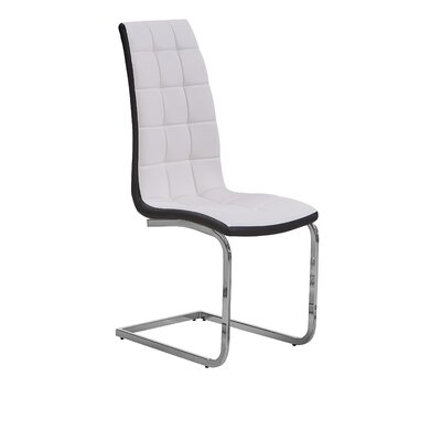 Maddox Side Chair Upholstery: White