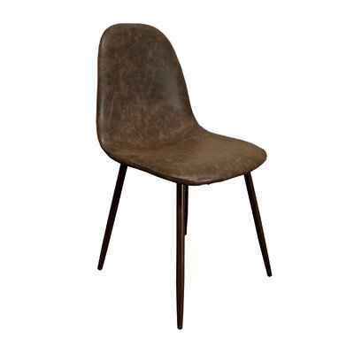 Velvet Side Chair Upholstery Color: Faux Leather/ Brown