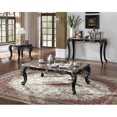 Marble 3 Piece Coffee Table Set