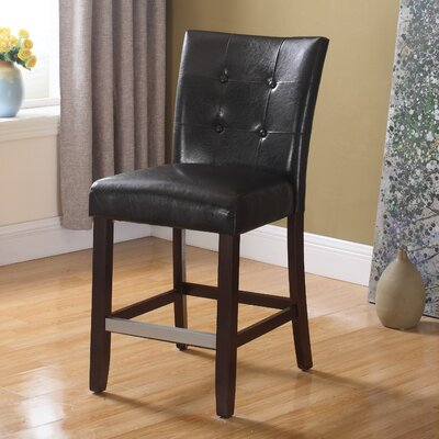 40 inch Bar Stool Upholstery: Espresso