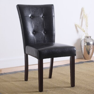 Faux Leather Side Chair Upholstery: Espresso
