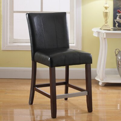 40 Bar Stool Upholstery: Black
