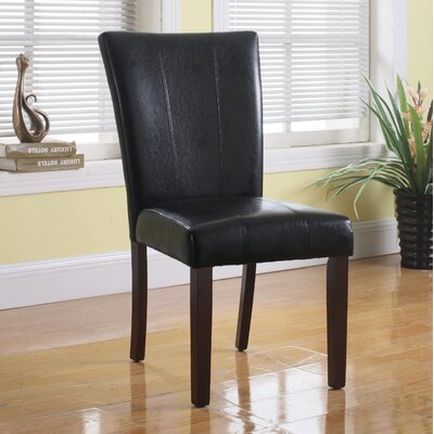 Faux Leather Side Chair Upholstery: Black