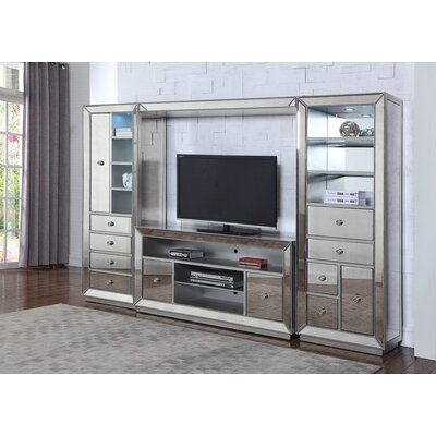 Mirrored Entertainment Center