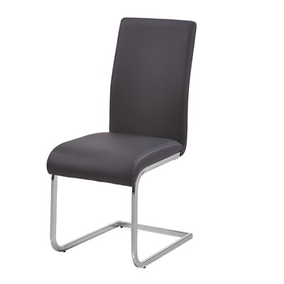 Leather Dining Side Chairs Upholstery: Gray