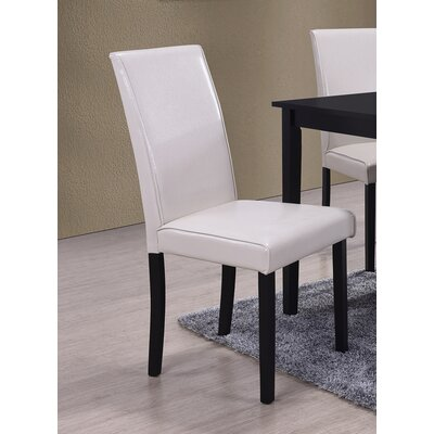 Dining Side Chair Upholstery: Cream