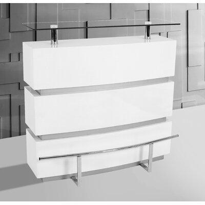 Mini Home Bar Finish: White
