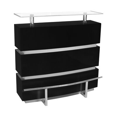 Mini Home Bar Color: Black