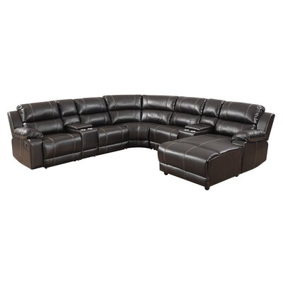 BestMasterFurniture 8501 Right-Hand Facing Reclining Sectional