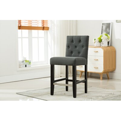 24 Bar Stools Upholstery: Dark Gray