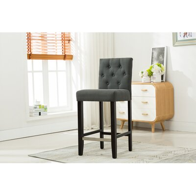 Bucknell 29 Bar Stool Finish: Dark Gray