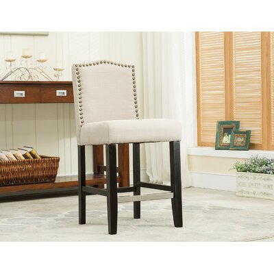 24 Bar Stool Upholstery: Beige
