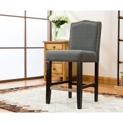 24 Bar Stool Upholstery: Dark Gray