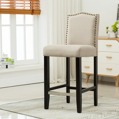 29 Bar Stool Upholstery: Beige