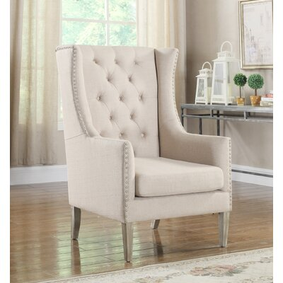 Executive Wingback Chair Upholstery: Natural