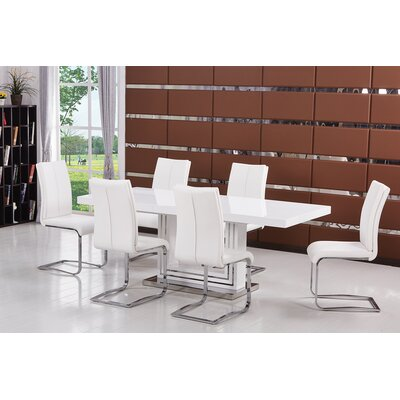 Everett 5 Pieces Dining Set Finish: White