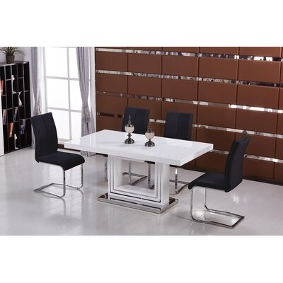 Everett 5 Pieces Dining Set Finish: Black