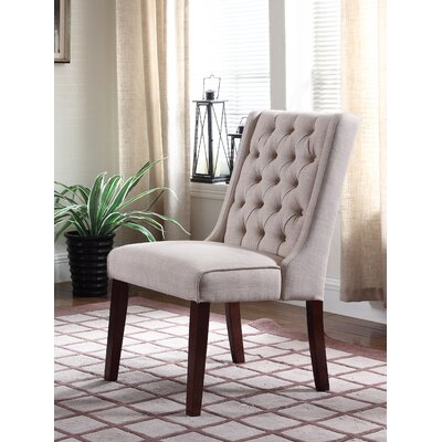 Henriette Contemporary Upholstered Dining Chair Upholstery Color: Beige