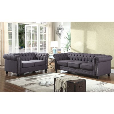 Sweetbriar 2 Piece Living Room Set Upholstery: Klein Charcoal