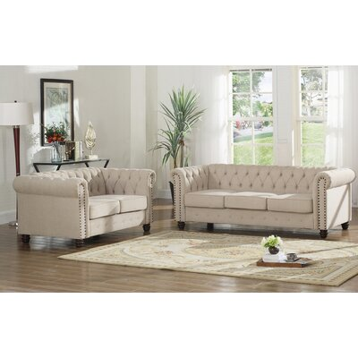 Sweetbriar 2 Piece Living Room Set Upholstery: Beige