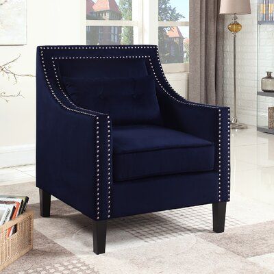Jamison Armchair Upholstery: Navy Blue