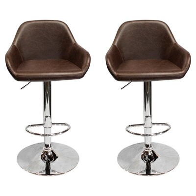 Isolde Adjustable Height Swivel Bar Stool
